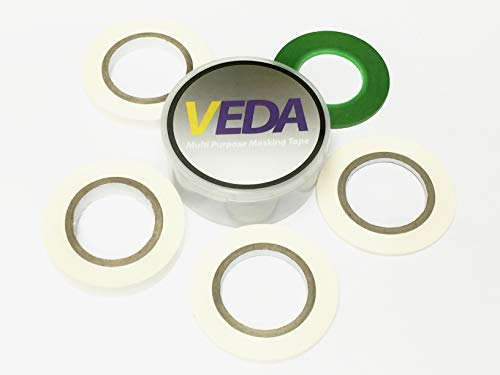 VEDA® - Juego de 5 cintas adhesivas para carrocería, 2 mm, 3 mm, 5 mm, 8 mm, 10 mm, herramientas accesorias, modelismo Hobbie