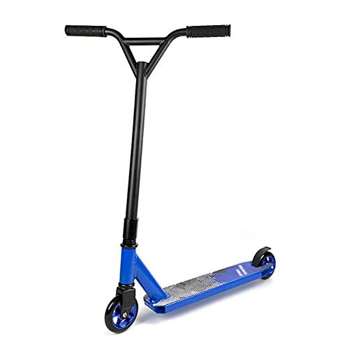 ZHANGCHUNLI Patinete Freestyle Stunt Scooter Stunt Scooter Pro,Patinete Freestyle,Manillar Rotación 360° Plataforma Reforzada,Trucos Y Saltos Ruedas 100mm,para Niños Y Jóvenes (Color : Blue)