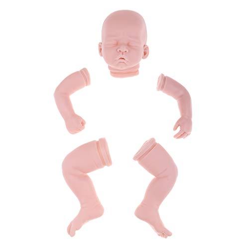 perfeclan DIY Unlackiert weiche Babypuppe Kopf, 3/4 Arme und volle Beine Körperteil Kit Für 22 Zoll Neugeborenes Baby Puppen - # 3