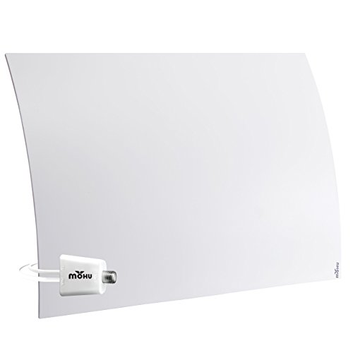 Mohu Curve 50 TV Antenna Indoor Amplified 60 Mile Range Modern Design 4K-Ready HDTV Premium Materials for Performance (MH-110959)