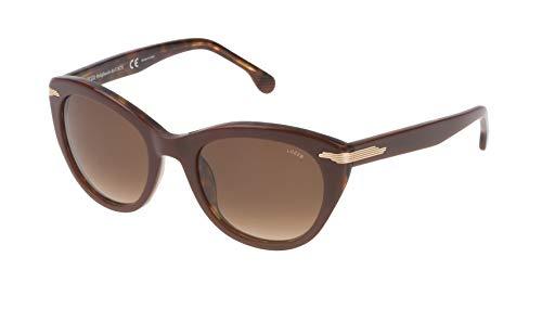 Lozza Sl4070M gafas de sol, Marrón (DARK BROWN+STREAKED HAVANA), Talla única para Mujer
