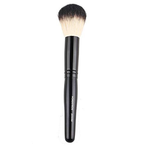 Maquillage Pinceau Haute Qualité Brillant Noir Poignée En Bois Tube En Aluminium Tube Pinceau Blush Pinceau Miel Poudre Brosse Multifonction Tête Ronde Pinceau