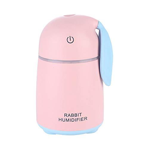 Hshihai Humidificador USB Lindo Mascota Conejo Humidificador De Escritorio Mini Coche Hogar Silencioso Atomizador (Color : Pink)