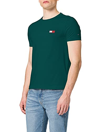 Tommy Hilfiger Circle Chest Corp Tee T-Shirt, Verde Rurale, M Uomo