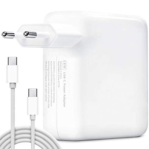 USB C Caricatore, HUMTOOL 87W USB C Adattatore per Mac Book Pro, 87W Type C Caricatore Compreso cavo USB C Compatible con Mac Book Air/Pro/Retina, iPad Pro, iPhone 11/11 Pro/Pro Max, HUAWEI, SAMSUNG