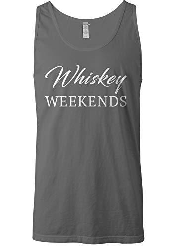 Mixtbrand Men's Whiskey Weekends Tank Top M Charcoal