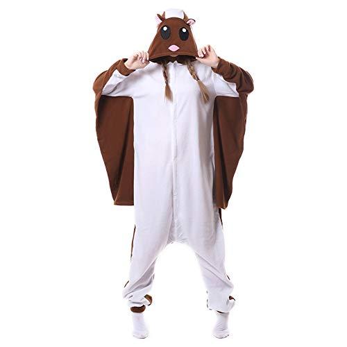 Fliegende Ratte Flughörnchen Pyjamas Bekleidung Animal Erwachsene Unisex Schlafanzüge Karneval Onesies Cosplay Jumpsuits Anime Carnival Spielanzug Kostüme Weihnachten Halloween Nachtwäsche