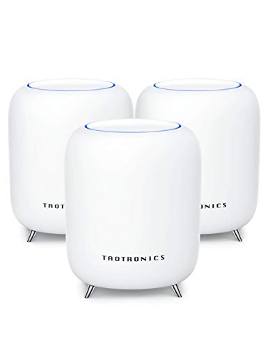 TaoTronics Mesh WiFi System, Up to 6,000 Sq.ft for Whole Home Coverage, Tri-Band AC3000 with 3Gbps Speed. WiFi Router/Extender Replacement,Gigabit Ports,Robust Parental Control -3 Pack