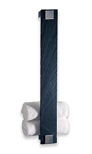 Schönbeck Design, Gästetuchhalter, Handtuchhalter für Gästetücher, Wandhalter aus Schiefer