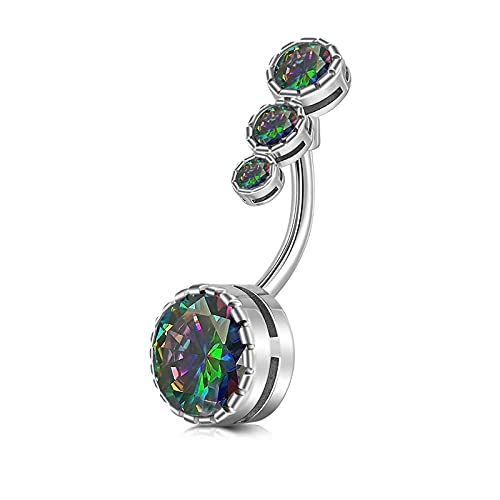 Piercing del ombligo anillo del ombligo barbell drop swing body piercing anillos del ombligo joyería del cuerpo masculino femenino 14g-C_1.6X10mm