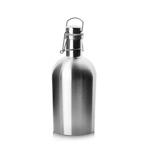 Homeland Juego de Regalo de petaca de Acero Inoxidable 304, con Embudo, frascos de Whisky de Frasco de Alcohol de Bolsillo de 6 oz / 170 ml (Color : Silver, Size : 65oz/2L)