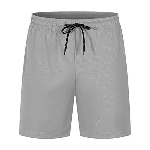 N\P Pantalones cortos de verano para hombre, pantalones cortos de playa, con cordón, casual, bolsillo