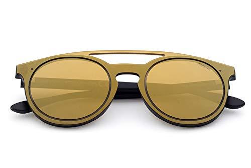 Saraghina - Gafas de sol unisex de nailon ultraligero para hombre y mujer, color negro