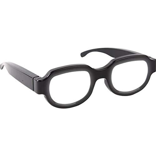Kisangel LED-Leuchtgläser USB-Aufladung Leuchtende Brillen Kreative LED-Anime Periphere Brillen Dekorative LED-Brillen für Bar Party nach Hause (Schwarz)