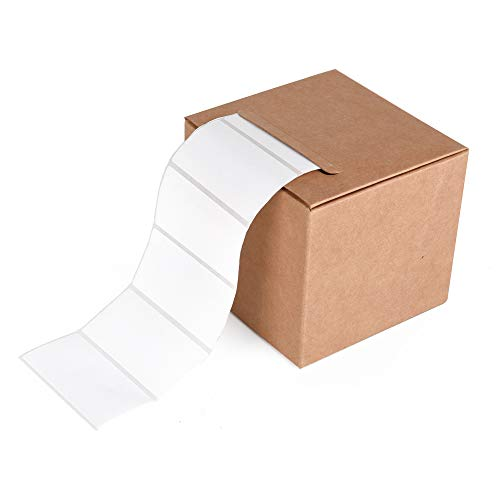 ewtshop® Haushaltsetiketten blanko 6 * 3 cm, 1000 Stück, Universaletiketten, weiß