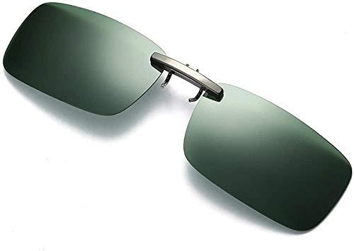XGBDTJ Abnehmbare Nachtsichtlinse Die Metall Polarisierten Clip Mode Living Auf Brille Sonnenbrillen Fährt (Color : Green, Size : Size)