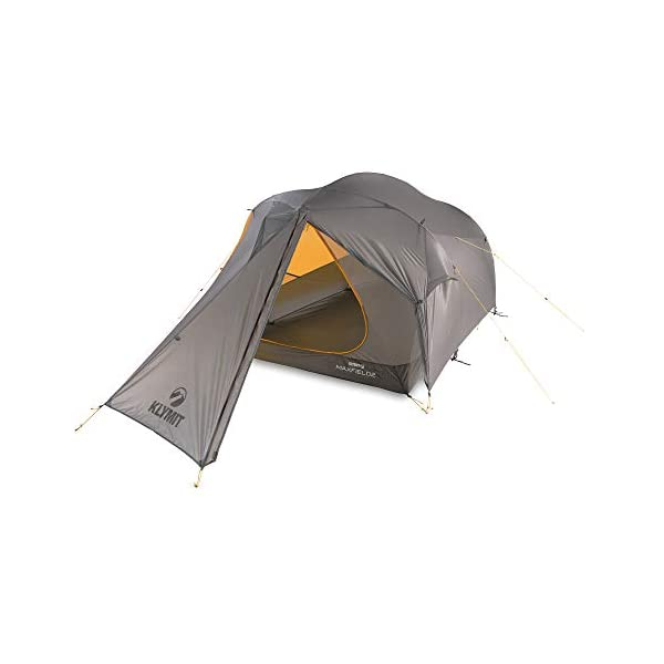Klymit Unisex's Maxfield 2 Tent, Orange/Grey, 2 Person