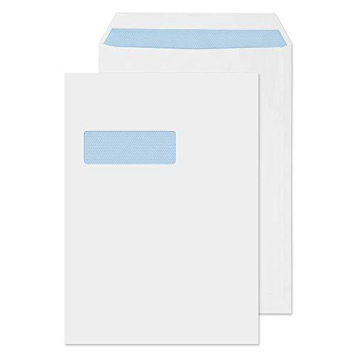 Purely Everyday FL3892 - Sobres para uso general (con ventana transparente, 324 x 229 mm, 250 unidades), color blanco
