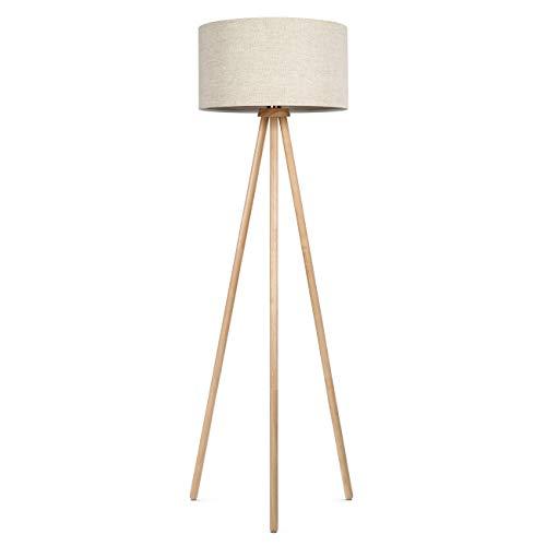 tomons Stehlampe Stativ aus Holz für Das Wohnzimmer, Schlafzimmer, Skandinavischer Stil