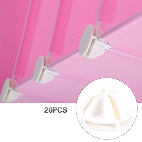 XILOSIN Blanc Closet Boucle Fermoir Clip Fil Cube Connecteurs en Plastique pour Cube Rayonnage et Armoire modulaire Organisateur -20PCS