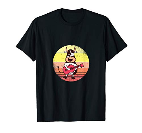 Lustige Gitarren-Kuh | Gitarre | Musik | Geschenk T-Shirt