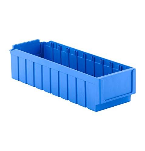 SSI Schäfer Regalkasten Sichtlagerkasten Lagerkasten, Blau, RK 521, 10 Fächer