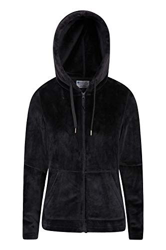 Mountain Warehouse Snaggle Damen-Fleecejacke mit Kapuze, Winter Schwarz 46