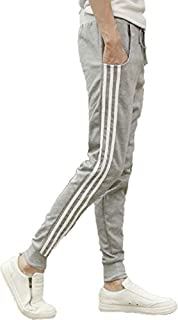 [パラッツィー」 メンズ ジャージ パンツ 夏向き 薄手 ジャージ下 トレパンライン 3カラー(ブラック・グレー・ネイビー)サイズ:L(日本のMサイズ相当)~XXL(日本のXLサイズ相当)