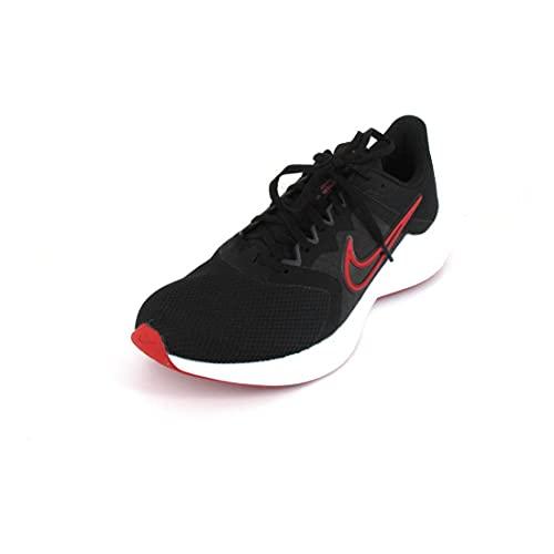 Nike Downshifter 11, Zapatillas Hombre, Negro, Blanco, Gris Oscuro, Gris Ahumado, Rojo Universitario, 47 EU