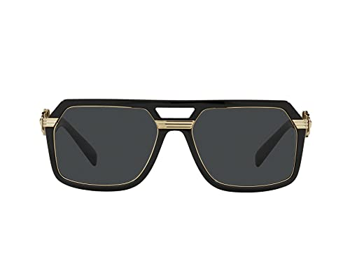 Versace VE4399, negro (Negro/Gris oscuro), Talla única