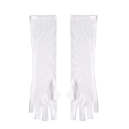 Beaupretty Gants de protection UV protègent la main des ongles manucure gants à ongles sans doigts anti-UV gants pour vernis à ongles séchage lampe LED