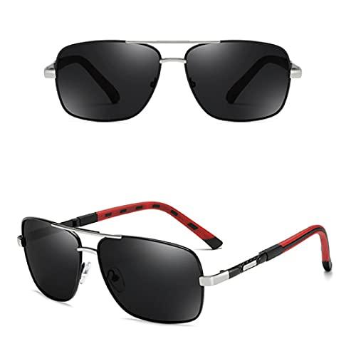 ShZyywrl Gafas De Sol Gafas De Sol De Moda De Lujo Gafas De Sol Polarizadas para Hombres Película De Color Lente Polarizada Gafas De Sol Deportivas De Ocio ESP