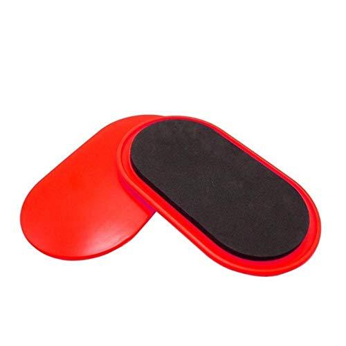 FIF - Juego de 2 placas de deslizamiento ovaladas para fitness y fitness, para yoga, gimnasio, ejército abdominal, equipo de entrenamiento