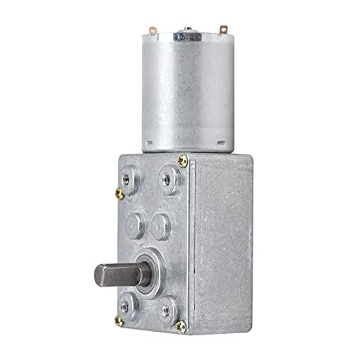 JSX100‑370 Motor de engranaje helicoidal de 24 V CC Engranaje helicoidal de turbina autobloqueante Velocidad de 62 RPM Reducir el movimiento Herramienta de desaceleración Motor reductor eléctrico para