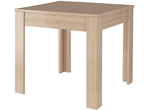 Loft Dining Table 80x80cm 80x120cm Square Rectangular For 4-6 People Kitchen Dining Room Furniture - MDF Easy-Care Wood, White Grey Black Oak (Oak, 80x80)