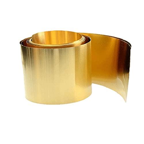 Lámina de latón, tira de latón, piel de latón, tira de cobre, 0,1, 0,2, 0,3, 0,4, 0,5, 0,6-1 mm, 1 kg-0,02 mm * 100 mm * 1 kg