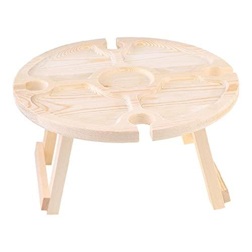 DONGMIAN WenPingUK Mesa de picnic plegable de madera para exteriores, mesa de picnic portátil, mesa plegable para exteriores, jardín, viajes