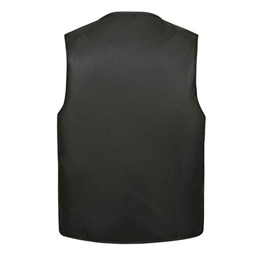 YDSH Men's Outdoor Sports Multi-Pocket Jacket Vest Solid Color Tourist Vest Fishing Vest Hiking Vest