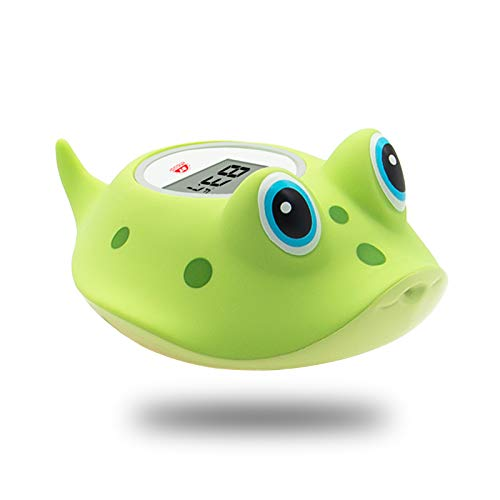 Doll Yearning Baby Bath Thermometer Kids' Bathroom Safety Products in Green Fish Lovely Shape All Available for Fahrenheit and Celsius