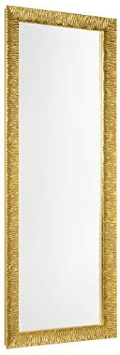 GaviaStore - Julie 140x50 cm - Espejo de Pared Moderno - Grande Largo Cuerpo Entero hogar decoración Sala de Estar Salon Modern Dormitorio baño Entrada Wall (Gold)