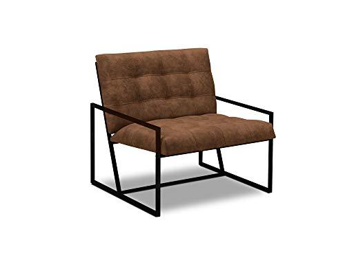 Windsor & Co Sessel, Stellar, 1-Sitzer, Cognac, 82 x 77 x 78 cm