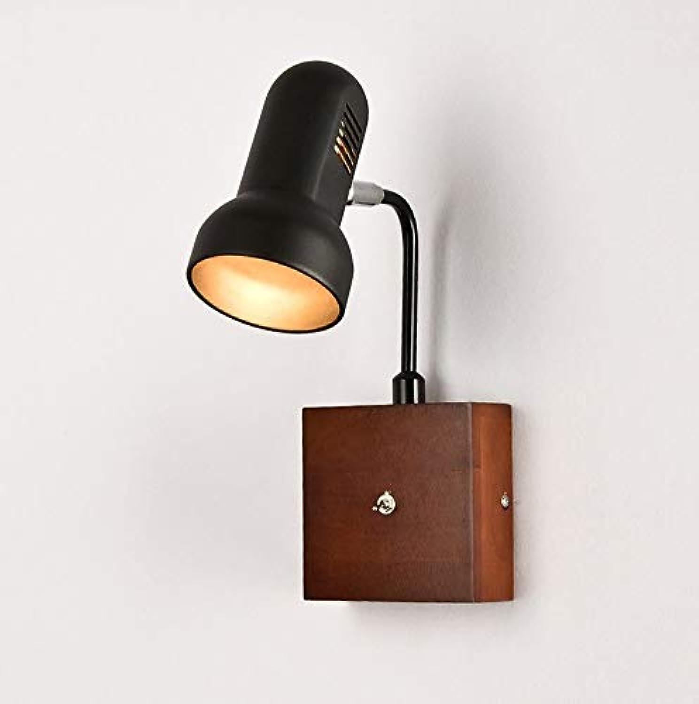 Hai Ying  Modern minimalistisch Nordeuropa Massivholz Balkon Gang Schlafzimmer im japanischen Stil Nachttischlampe E27  1 wei