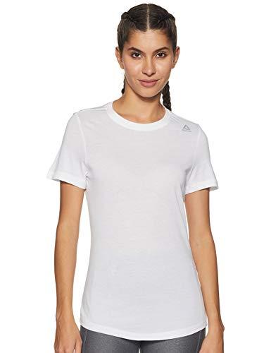 Reebok Te tee Camiseta, Mujer, Blanco, 2XS