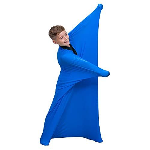 """Sensory Sox Calcetines de cuerpo completo para aliviar el estrés, la higiene ideal para niños, niñas con autismo, ansiedad, color azul (Pequeña 47""""x27"""", Azul)"""