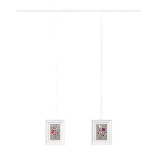IKEA HAGHED Bilderschiene in weiß; (115cm)