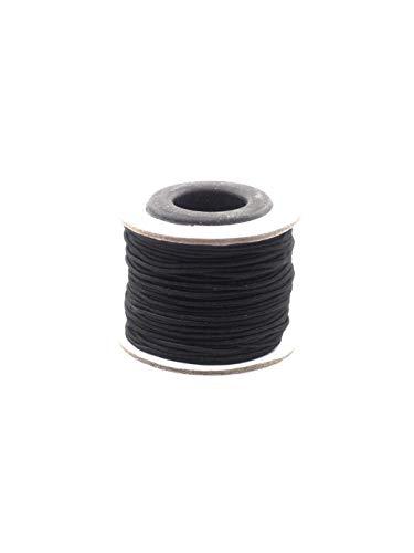 Gummischnur, Stretchband, elastischer Faden, schwarz, 1mm-20meter zum auffädeln von Perlen, basteln Armbänder und Schmuck selber machen