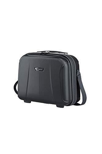 travelite leichte Handgepäck Kosmetikkoffer mit Liquids Bag + Aufsteckfunktion, Gepäck Serie ELBE: Widerstandsfähiges Hartschalen Beautycase, 075502-20, 19 Liter, 1,6 kg, marine (blau)