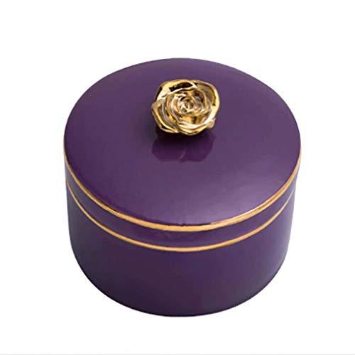 JJZXT Decor Purple Jewelry Box, Decorative Keepsake Box Mirrored Trinket Box Caja de Almacenamiento Personalizada Organizador Funda for joyería Gafas Relojes Accesorios (Color : C)