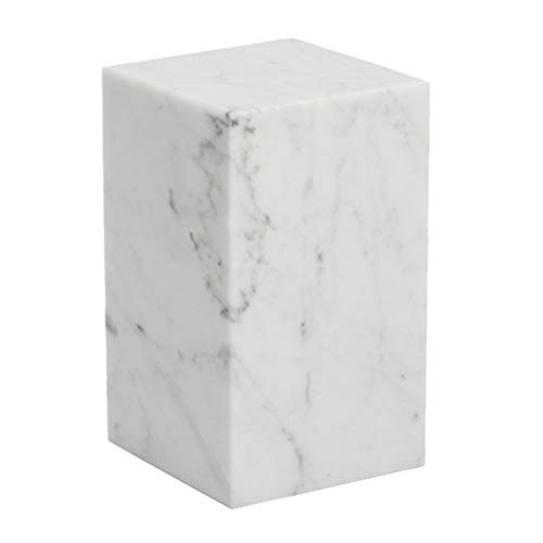 Buchstützen Aus Marmor, Creative Home Buchstütze, Heavy Stone Office Buchstützen, Schwarz-Weiß-Dekorative Bücherregal,White,10 * 10 * 17Cm