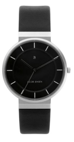 Jacob Jensen herenhorloge Dimension Series 880 analoog leer zwart 880